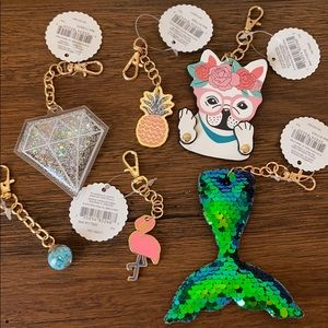 Keychain/Bag Charms Lot of 6
